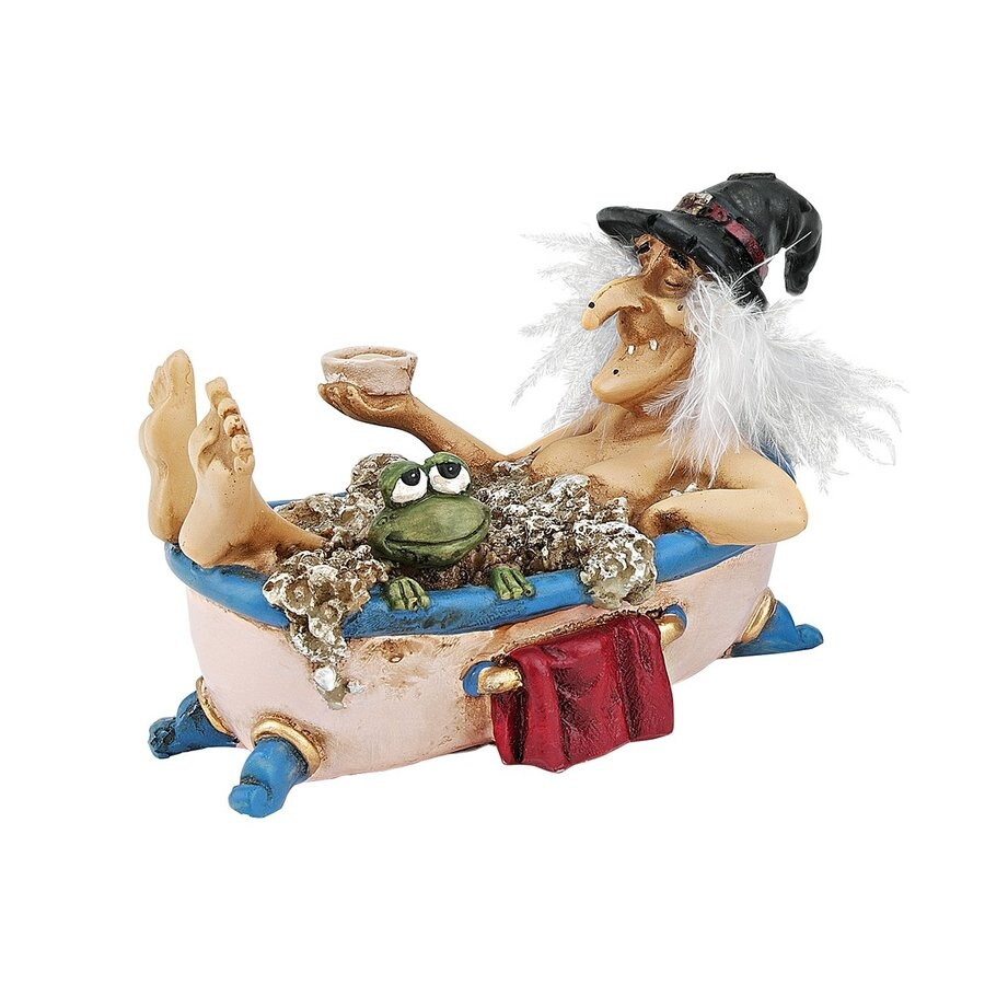 Design Toscano Bewitching Witches Cauldron Of Beauty Witch Figurine