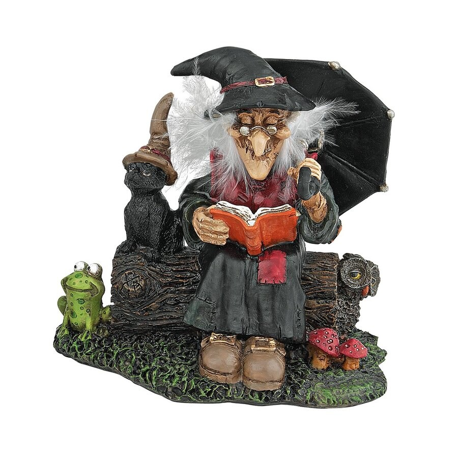 Design Toscano Bewitching Witches Book Of Spells Tabletop Figurine
