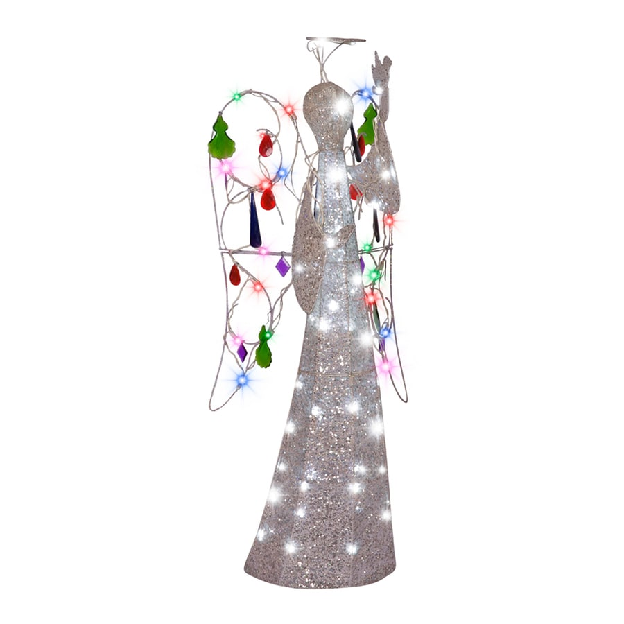 gemmy 397 ft lighted angel freestanding sculpture outdoor christmas decoration with white led lights