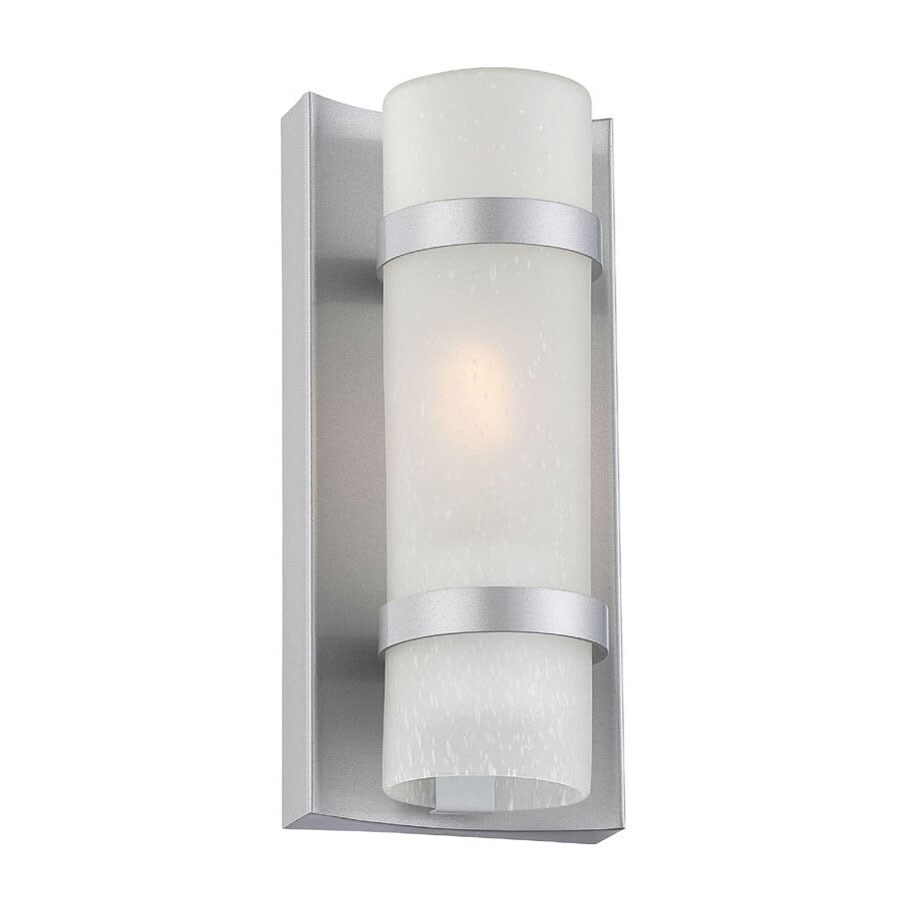 Acclaim Lighting Apollo 9.75-in H Brushed Silver Outdoor Wall Light