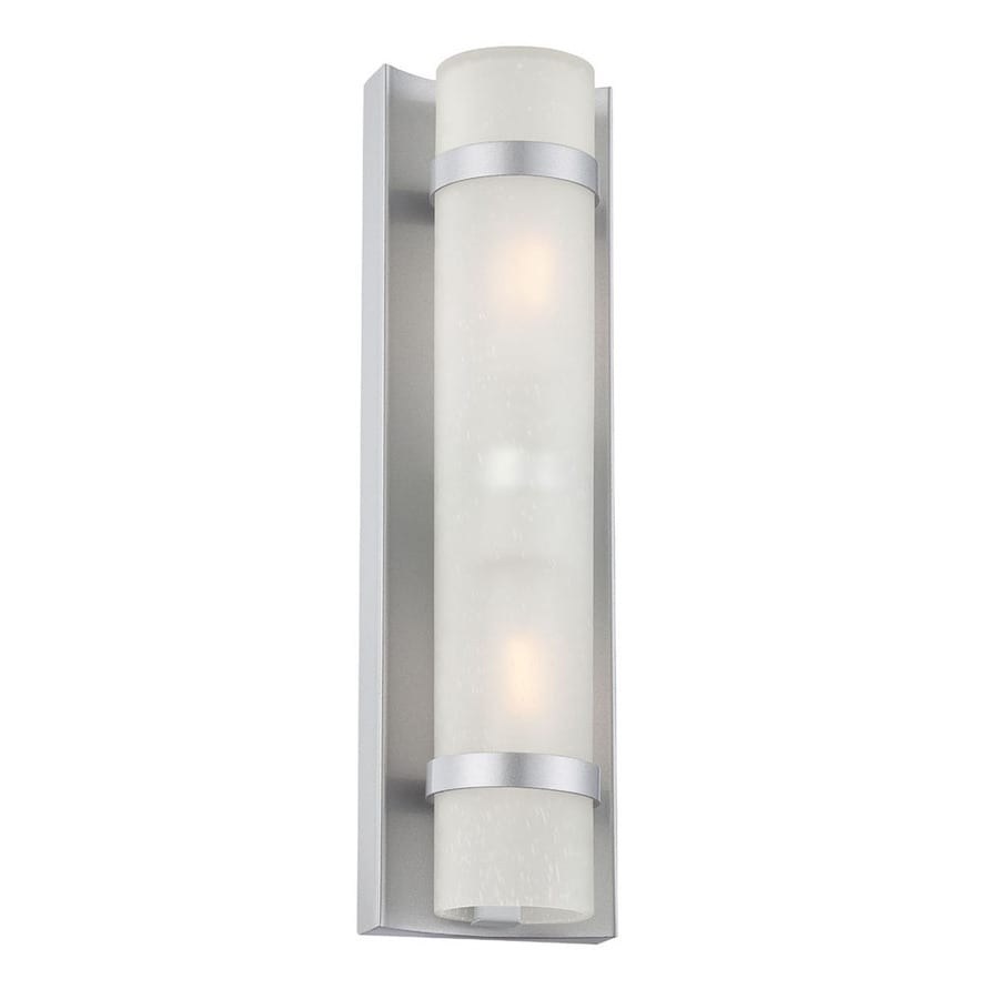 Silver Chrome Wall Lights : Shop Acclaim Lighting Apollo 15.38-in H Brushed Silver Outdoor Wall Light at Lowes.com
