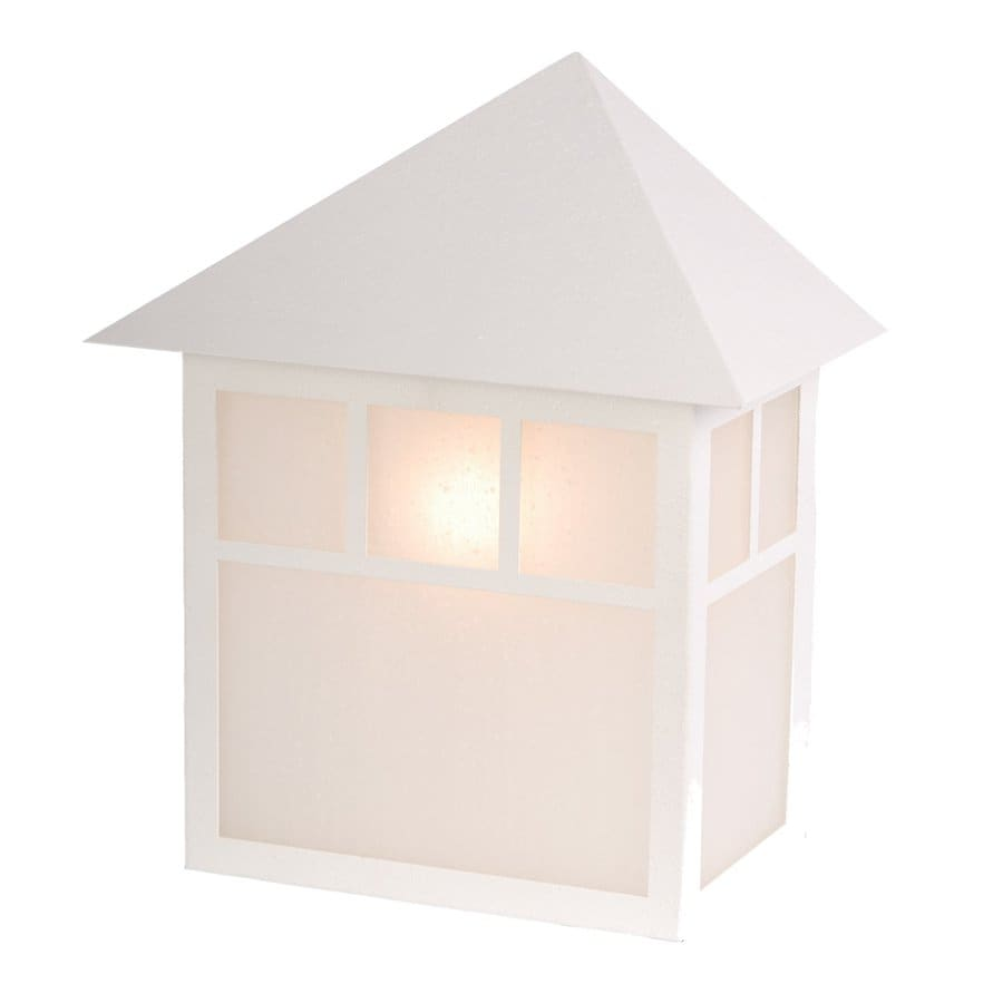 Acclaim Lighting Artisan 10-in H Textured White Medium Base (E-26) Outdoor Wall Light