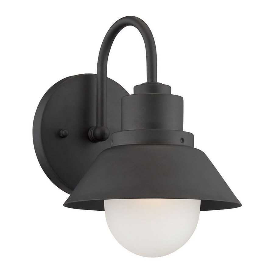 Acclaim Lighting Fripp 9-in H Matte Black  Medium Base (E-26) Outdoor Wall Light