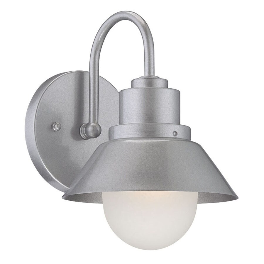 Silver Chrome Wall Lights : Shop Acclaim Lighting Fripp 9-in H Brushed Silver Medium Base (E-26) Outdoor Wall Light at Lowes.com
