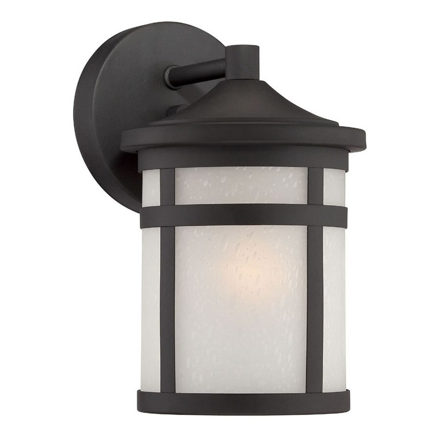 Acclaim Lighting Visage 9.25-in H Matte Black  Medium Base (E-26) Outdoor Wall Light