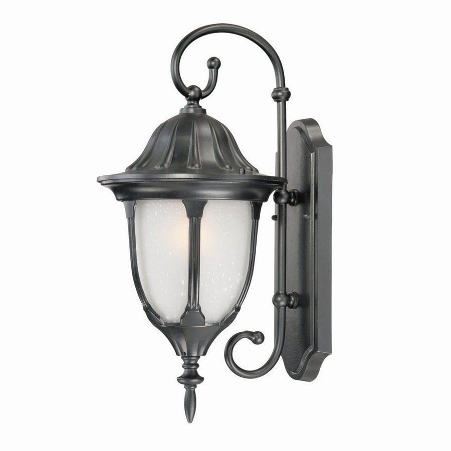 Acclaim Lighting Suffolk 19.75-in H Matte Black  Medium Base (E-26) Outdoor Wall Light