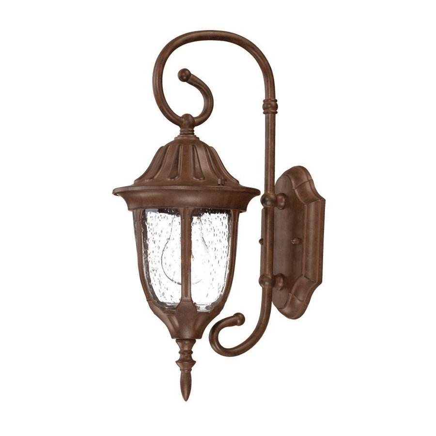 Acclaim Lighting Suffolk 16-in H Burled Walnut Outdoor Wall Light