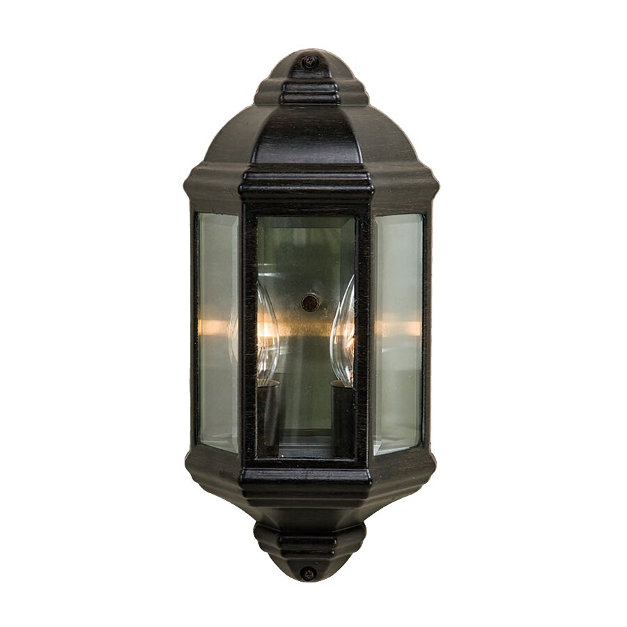 Acclaim Lighting 14.5-in H Black Coral  Candelabra Base (E-12) Outdoor Wall Light