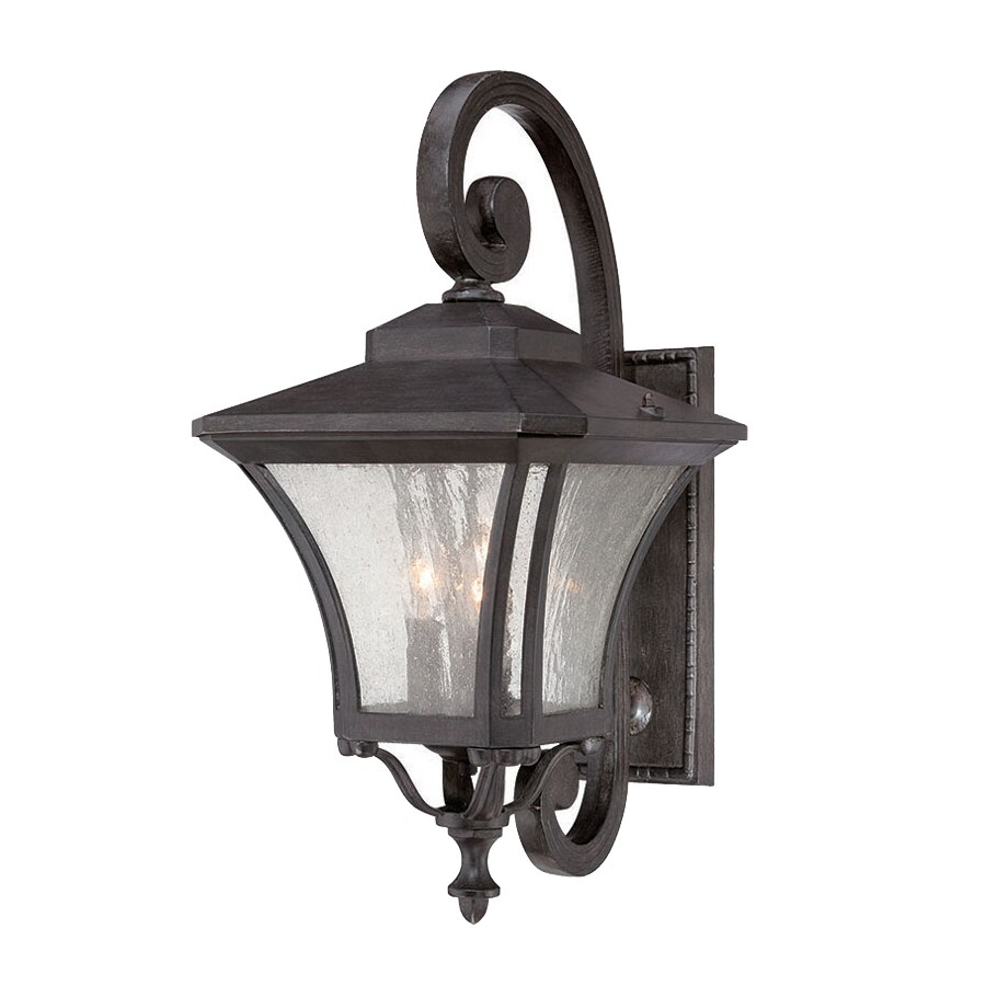 Acclaim Lighting Tuscan 22-in H Black Coral  Candelabra Base (E-12) Outdoor Wall Light