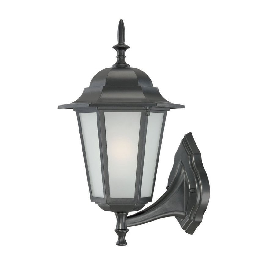 Acclaim Lighting Camelot 15.5-in H Matte Black  Medium Base (E-26) Outdoor Wall Light