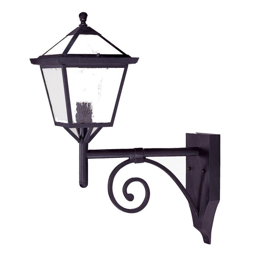 Acclaim Lighting Charleston 23.75-in H Matte Black  Medium Base (E-26) Outdoor Wall Light