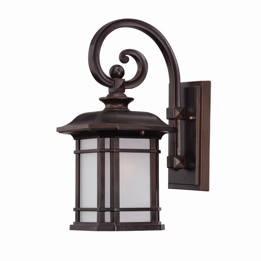 Acclaim Lighting Somerset 14.25-in H Architectural Bronze  Medium Base (E-26) Outdoor Wall Light