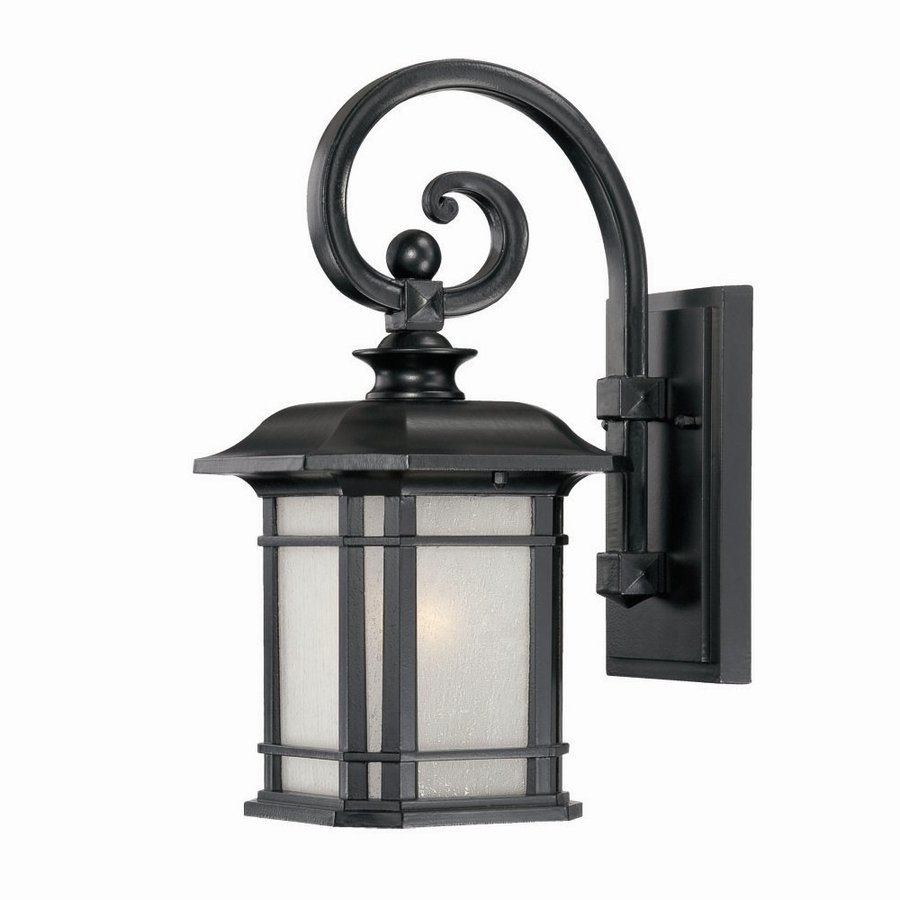 Acclaim Lighting Somerset 14.25-in H Matte Black Outdoor Wall Light
