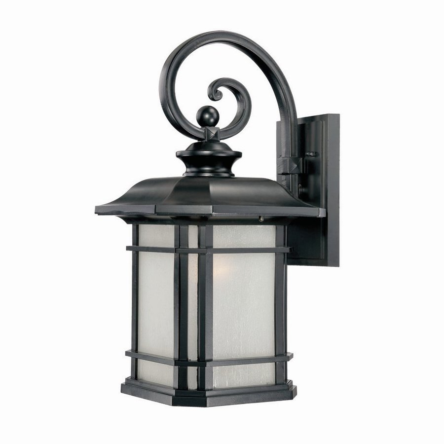 Acclaim Lighting Somerset 22-in H Matte Black  Medium Base (E-26) Outdoor Wall Light