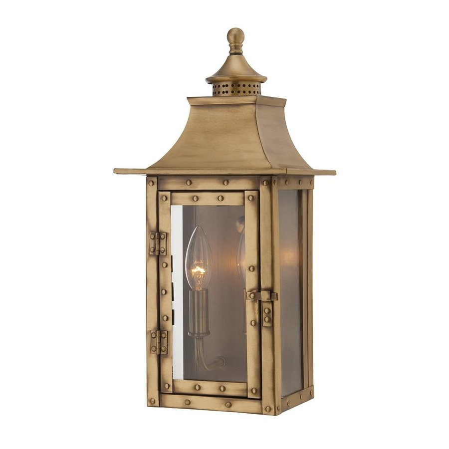 Acclaim Lighting St. Charles 16.5-in H Aged Brass  Candelabra Base (E-12) Outdoor Wall Light