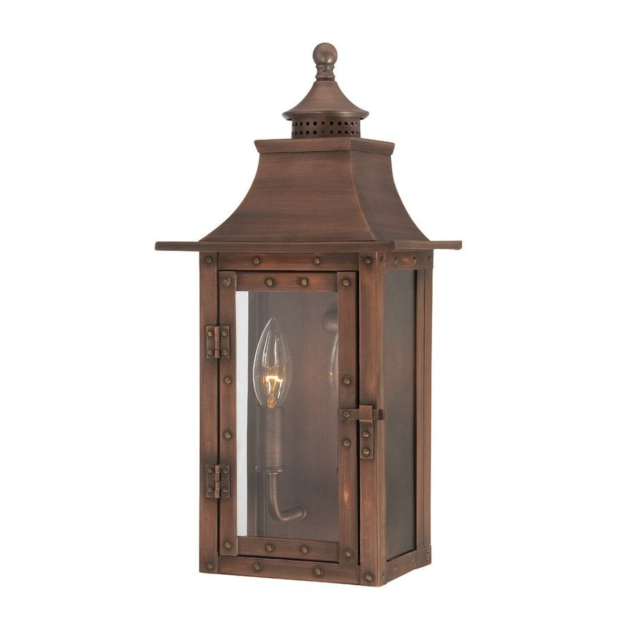 Acclaim Lighting St Charles 16.5-in H Copper Patina Outdoor Wall Light