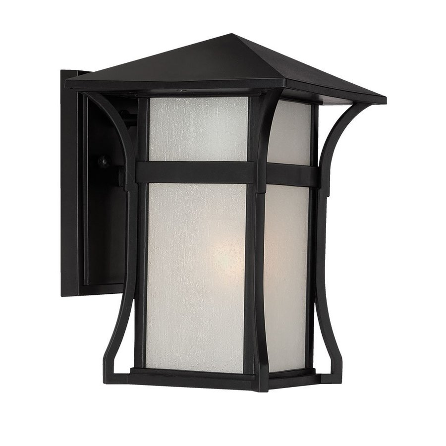 Acclaim Lighting Tahiti 10.25-in H Matte Black  Medium Base (E-26) Outdoor Wall Light