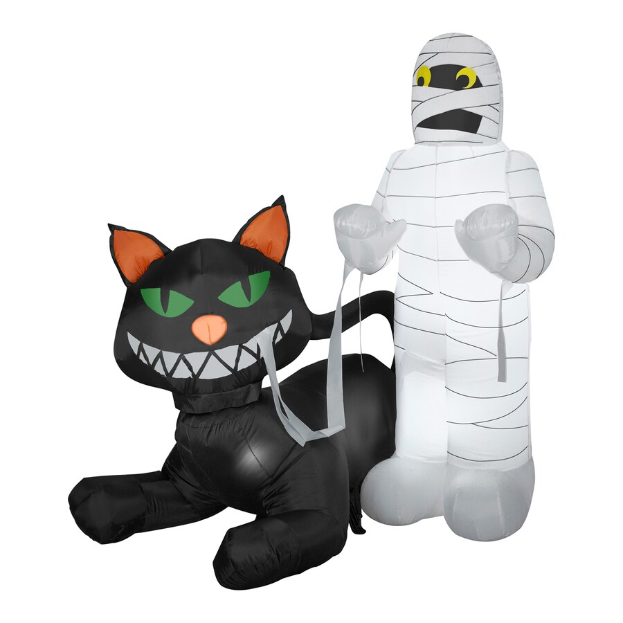 gemmy 45 ft internal light black cat halloween inflatable - Lowes Halloween Inflatables