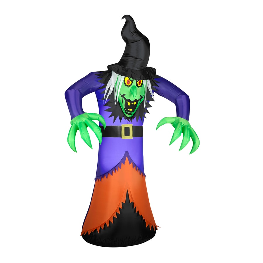 shop gemmy 7-ft internal light witch halloween inflatable at lowes
