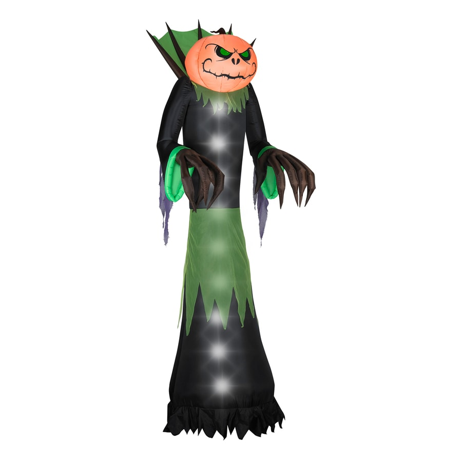 Shop Gemmy Pumpkin Head Reaper 14 Ft Lighted Halloween