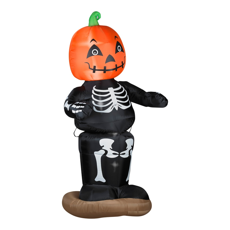 Shop Gemmy 6-ft Internal Light Jack-O-Lantern Halloween Inflatable ...