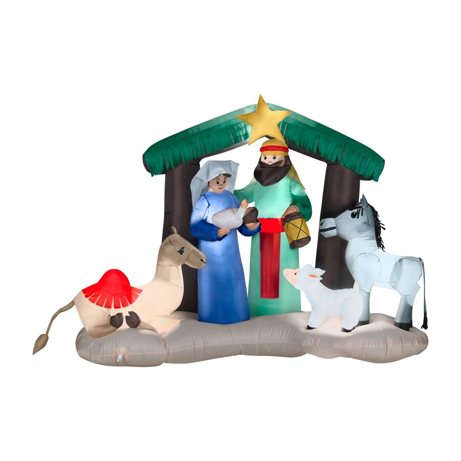 Gemmy 4.72-ft Lighted Nativity Christmas Inflatable
