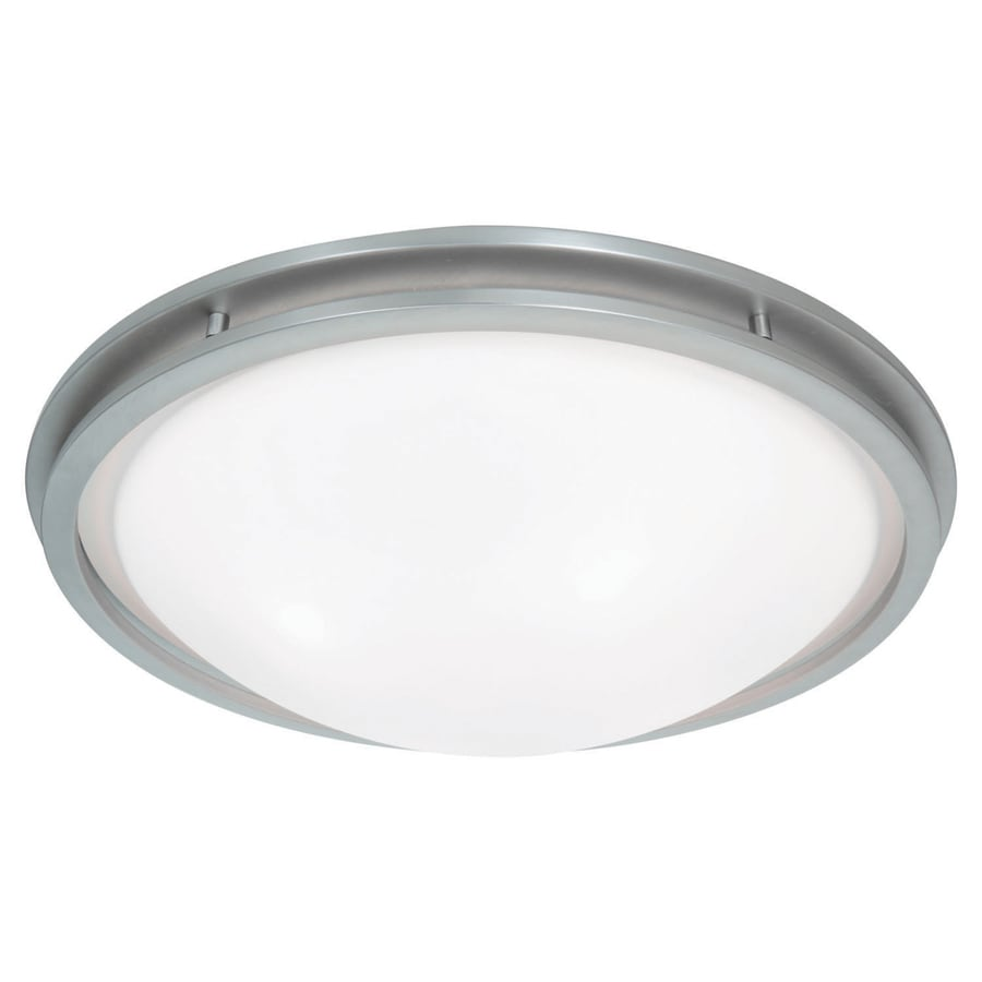 Access Lighting Aztec 17-in W Brushed Steel Ceiling Flush Mount Light