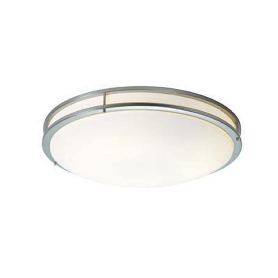 Access Lighting Saloris 23.25-in W Brushed Steel Flush Mount Light