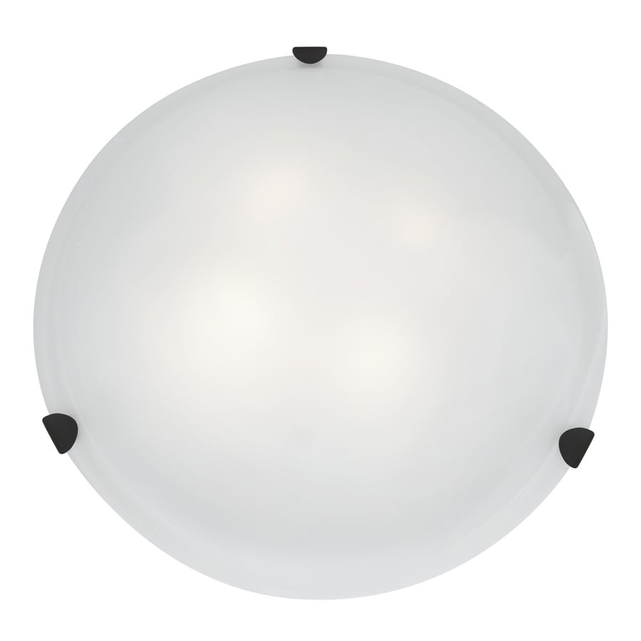 Access Lighting Mona 20-in W Rust Flush Mount Light