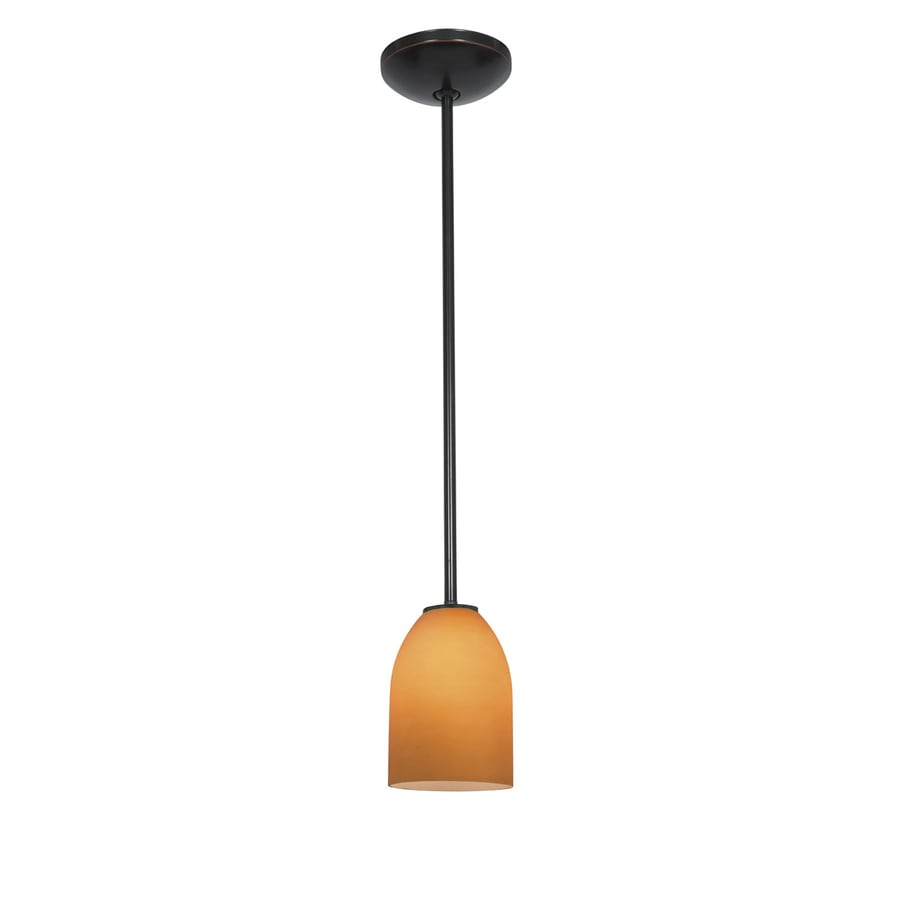 Access Lighting Inari Silk 5.25-in Oil-Rubbed Bronze Mini Bell Pendant