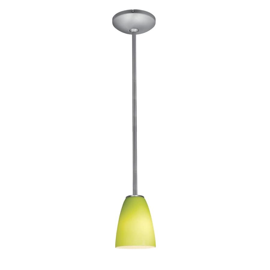 Access Lighting Inari Silk 5.5-in Brushed Steel Mini Bell Pendant