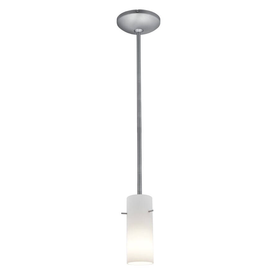 Access Lighting Julia 4-in Brushed Steel Mini Cylinder Pendant