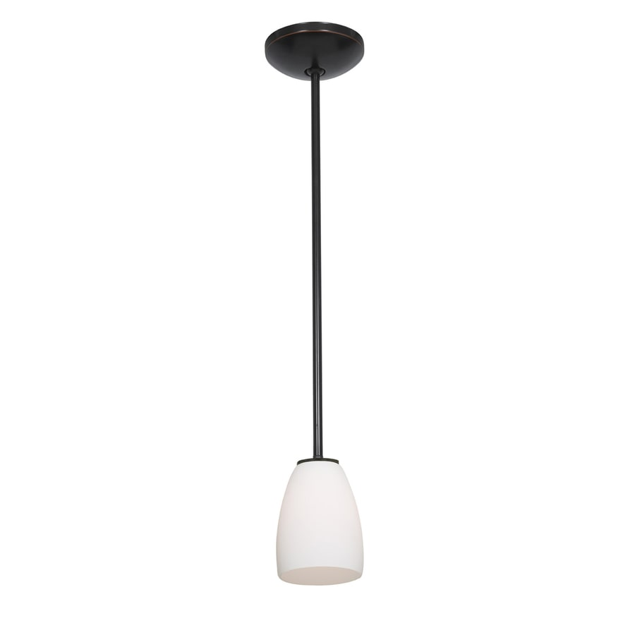 Access Lighting Janine 4.5-in Oil-Rubbed Bronze Mini Bell Pendant