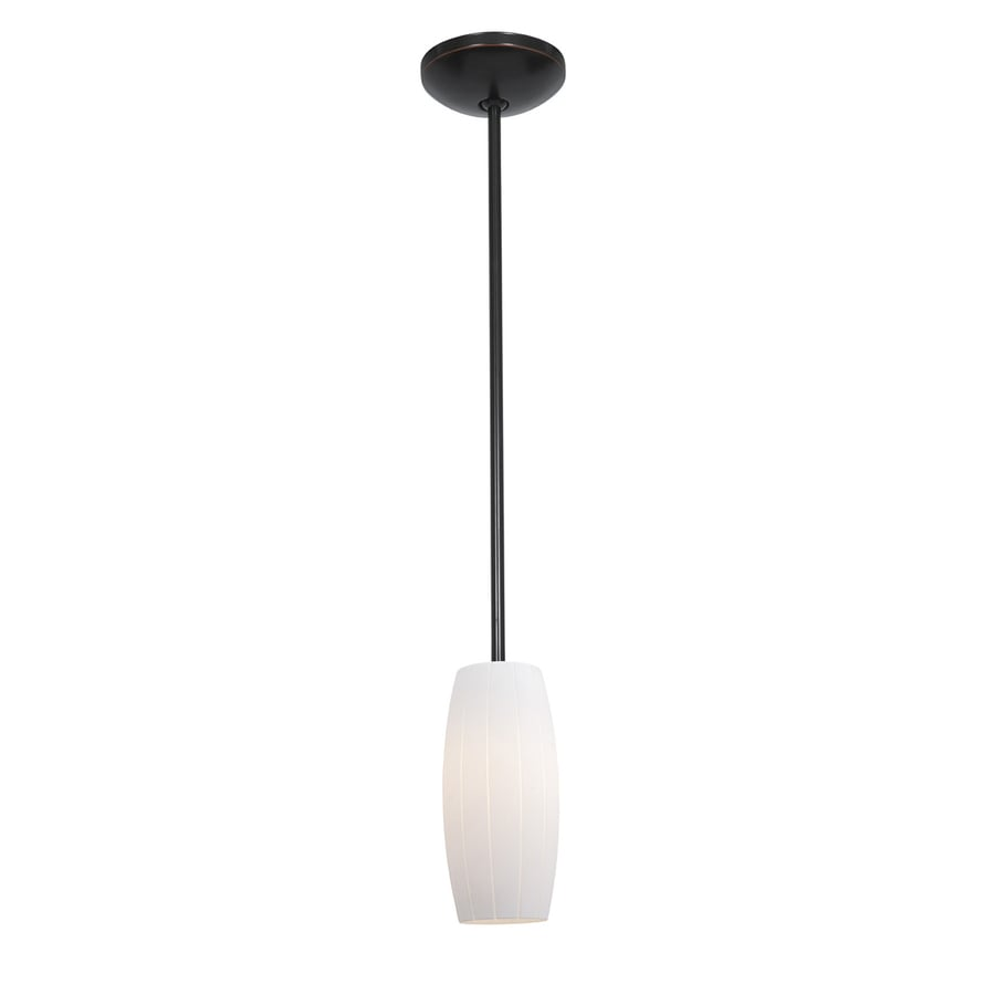 Access Lighting Janine 4.75-in Oil-Rubbed Bronze Mini Cylinder Pendant