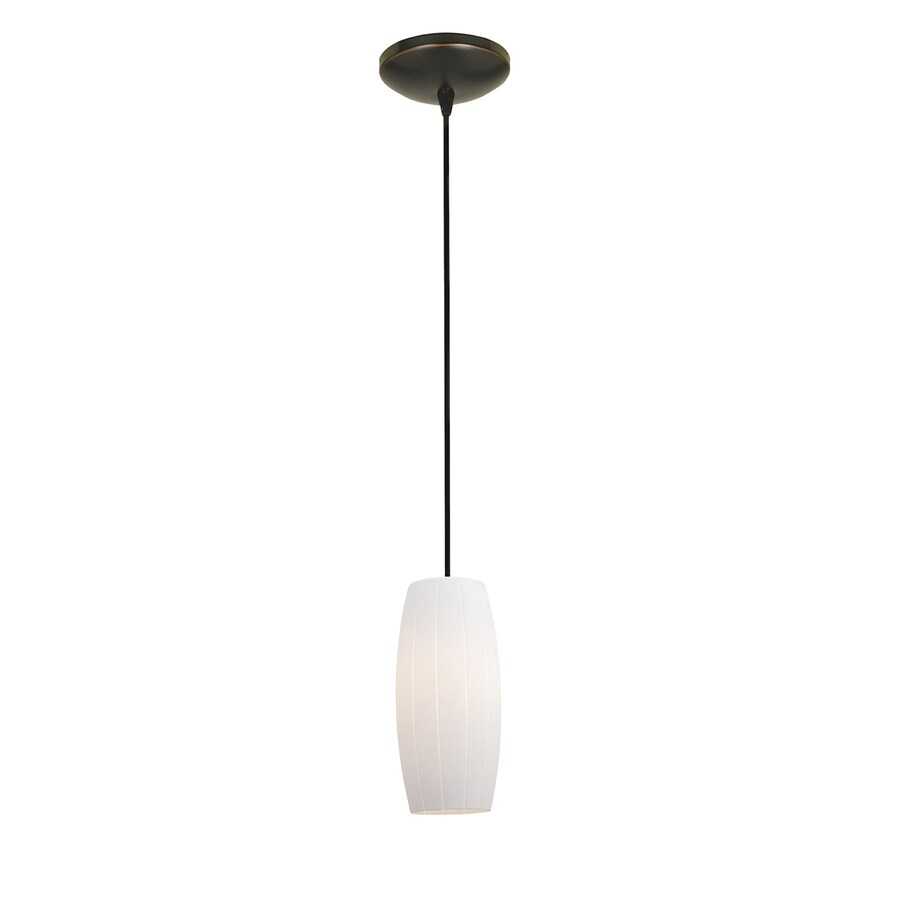 Access Lighting Tali 4.75-in Oil-Rubbed Bronze Mini Cylinder Pendant