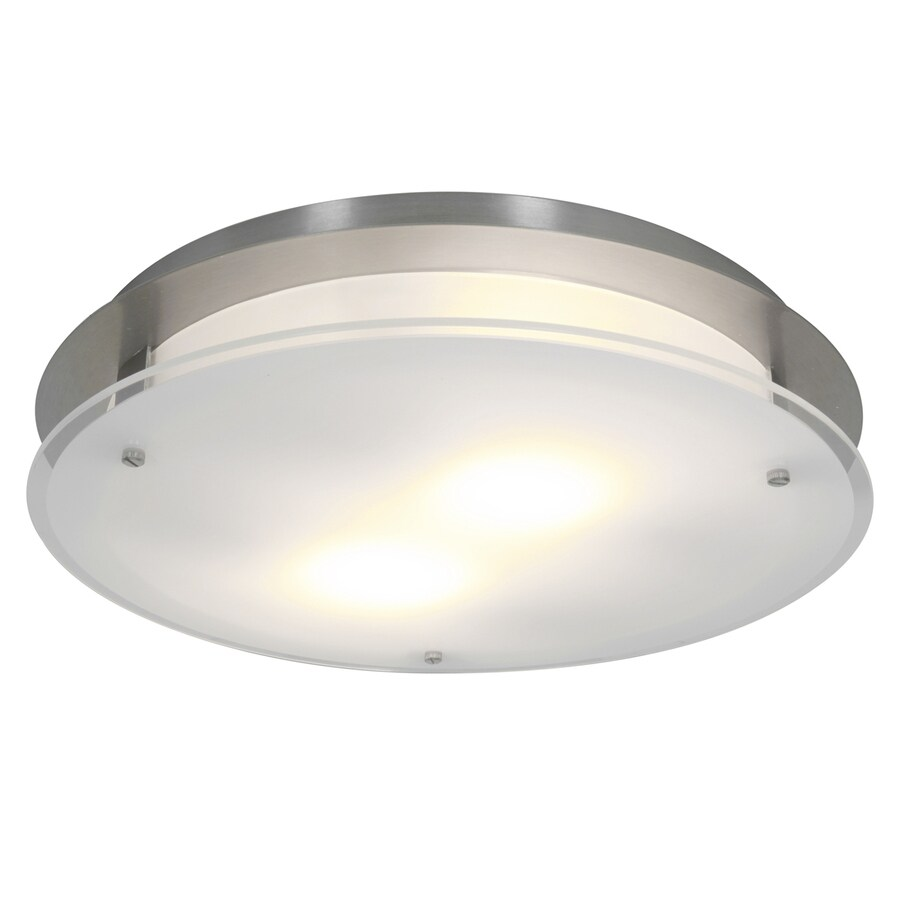 Access Lighting Visionround 14-in W Brushed Steel Ceiling Flush Mount Light