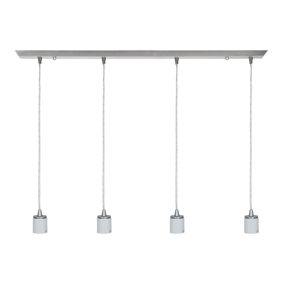 Access Lighting Quada 2-in W 4-Light Brushed Steel Kitchen Island Light