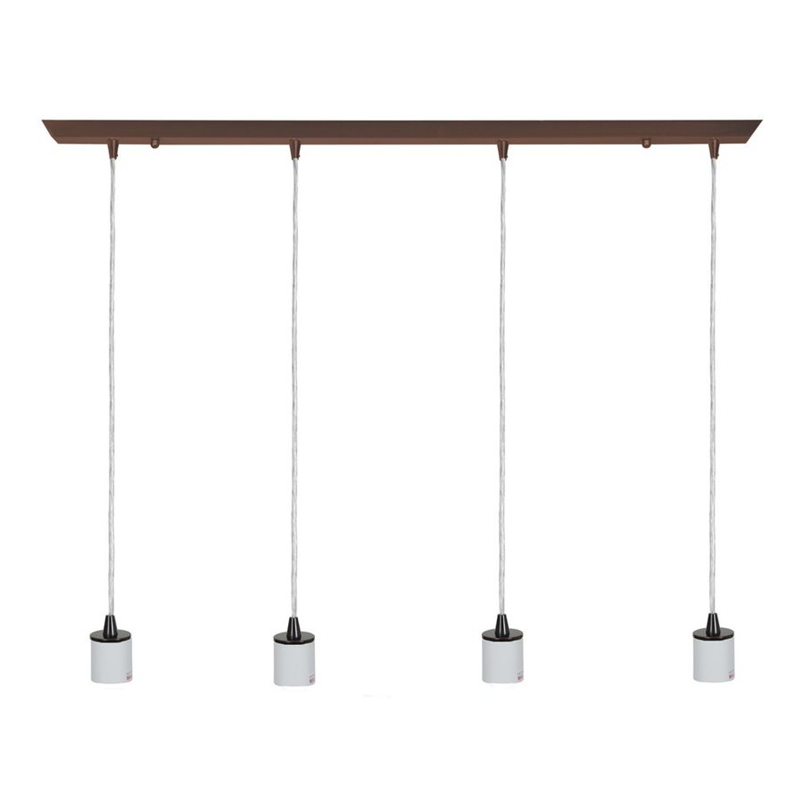 Access Lighting Quada 2-in W 4-Light Oil Rubbed Bronze Kitchen Island Light