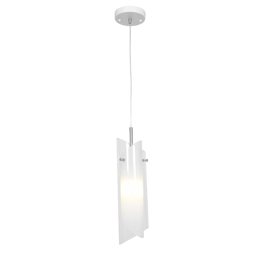 Access Lighting Gyro 4.4-in Brushed Steel Mini Clear Glass Geometric Pendant