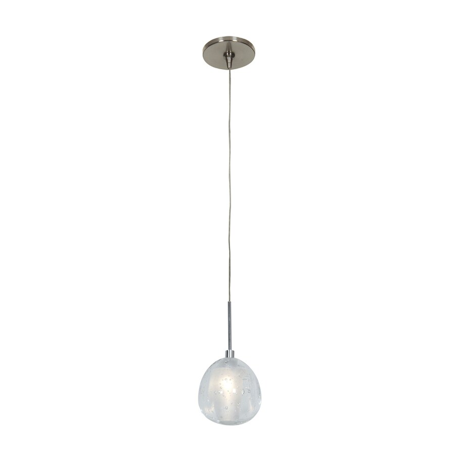 Access Lighting Raindrop 3.5-in Brushed Steel Mini Globe Pendant