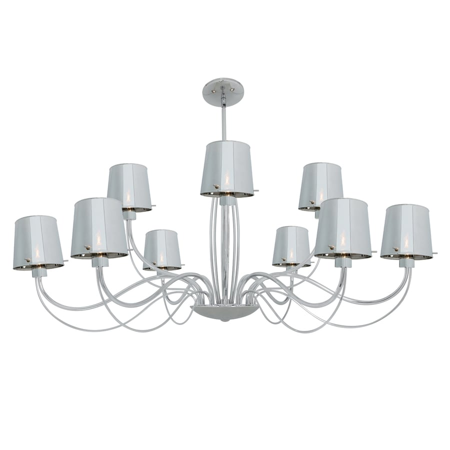 Access Lighting Milano 37-in 9-Light Chrome Shaded Chandelier