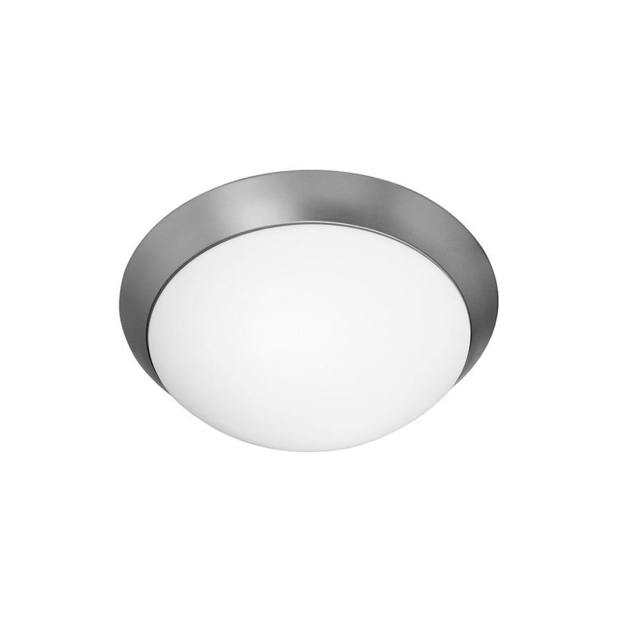 Access Lighting Cobalt 11-in W Brushed Steel Flush Mount Light