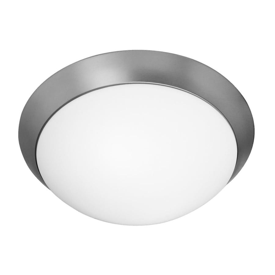 Access Lighting Cobalt 15-in W Brushed Steel Flush Mount Light