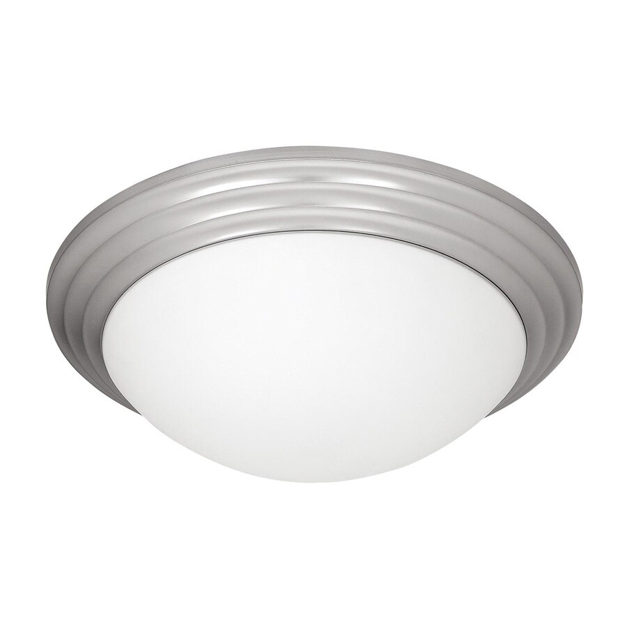 Access Lighting Strata 16-in W Brushed Steel Ceiling Flush Mount Light