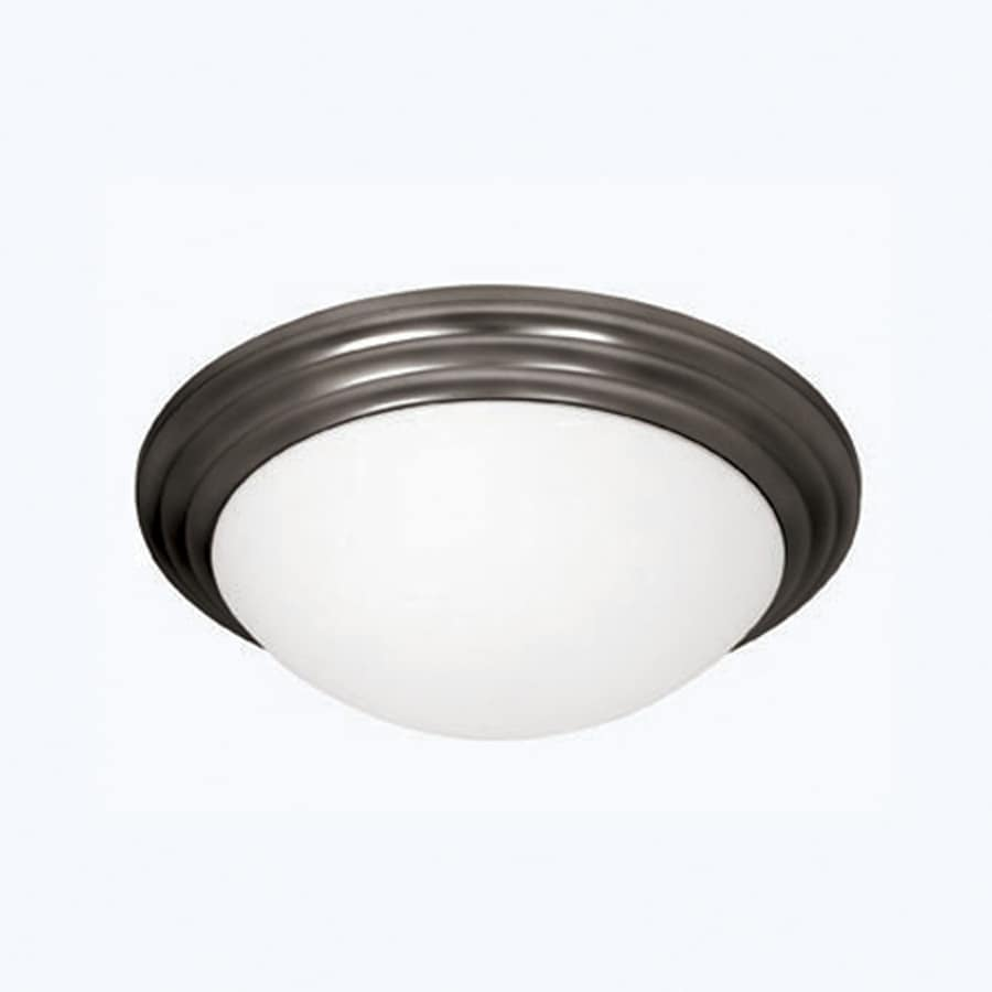 Access Lighting Strata 16-in W Oil Rubbed Bronze Flush Mount Light
