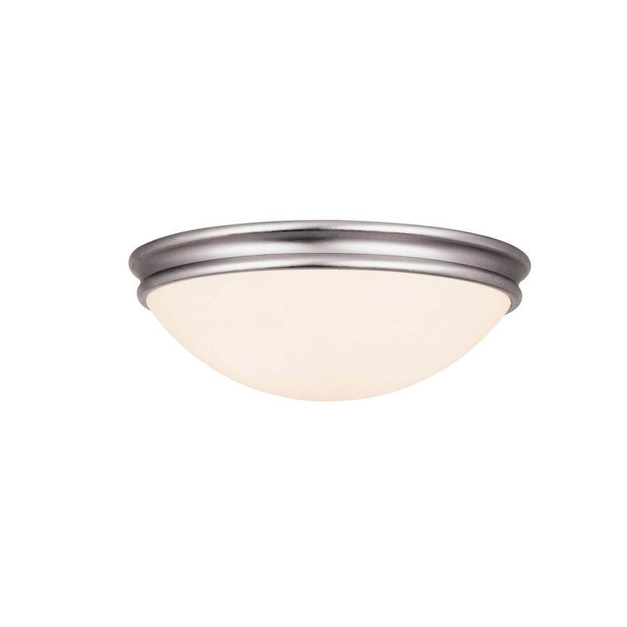 Access Lighting Atom 10.5-in W Brushed Steel Ceiling Flush Mount Light
