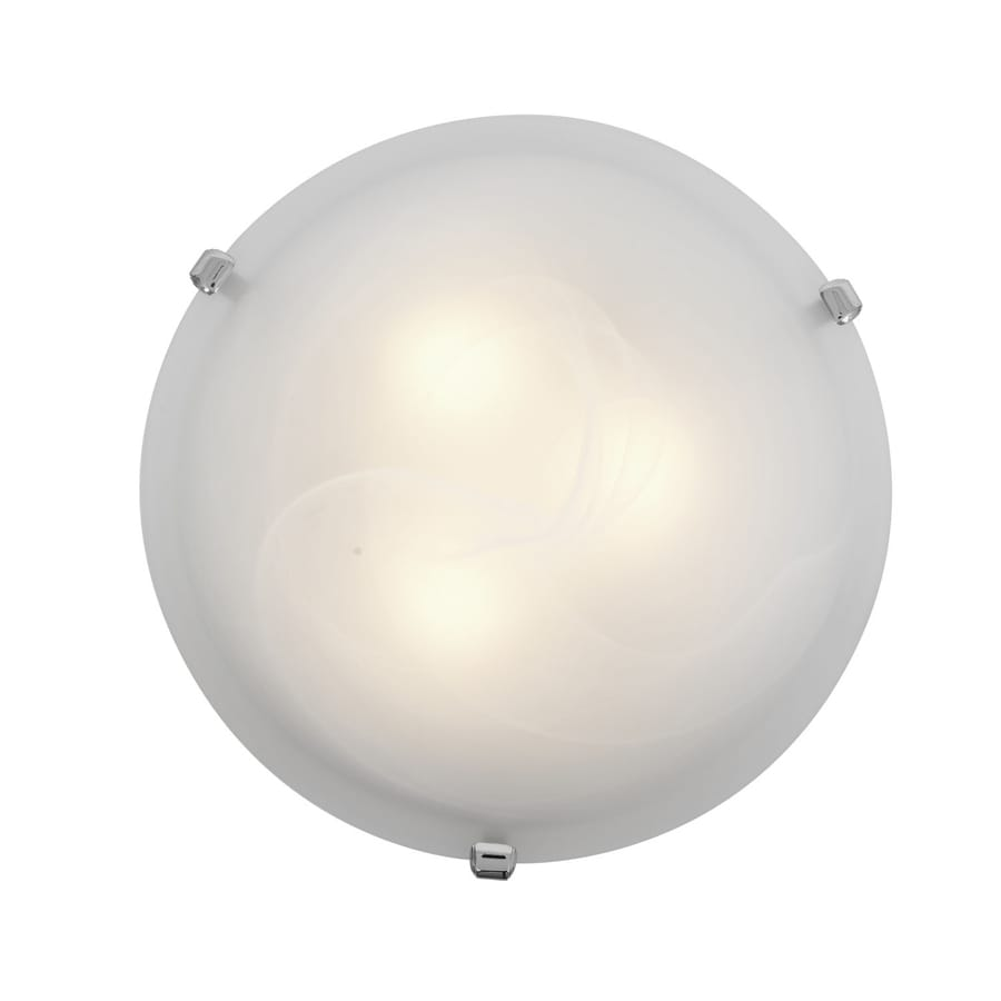 Access Lighting Mona 12-in W Chrome Ceiling Flush Mount Light