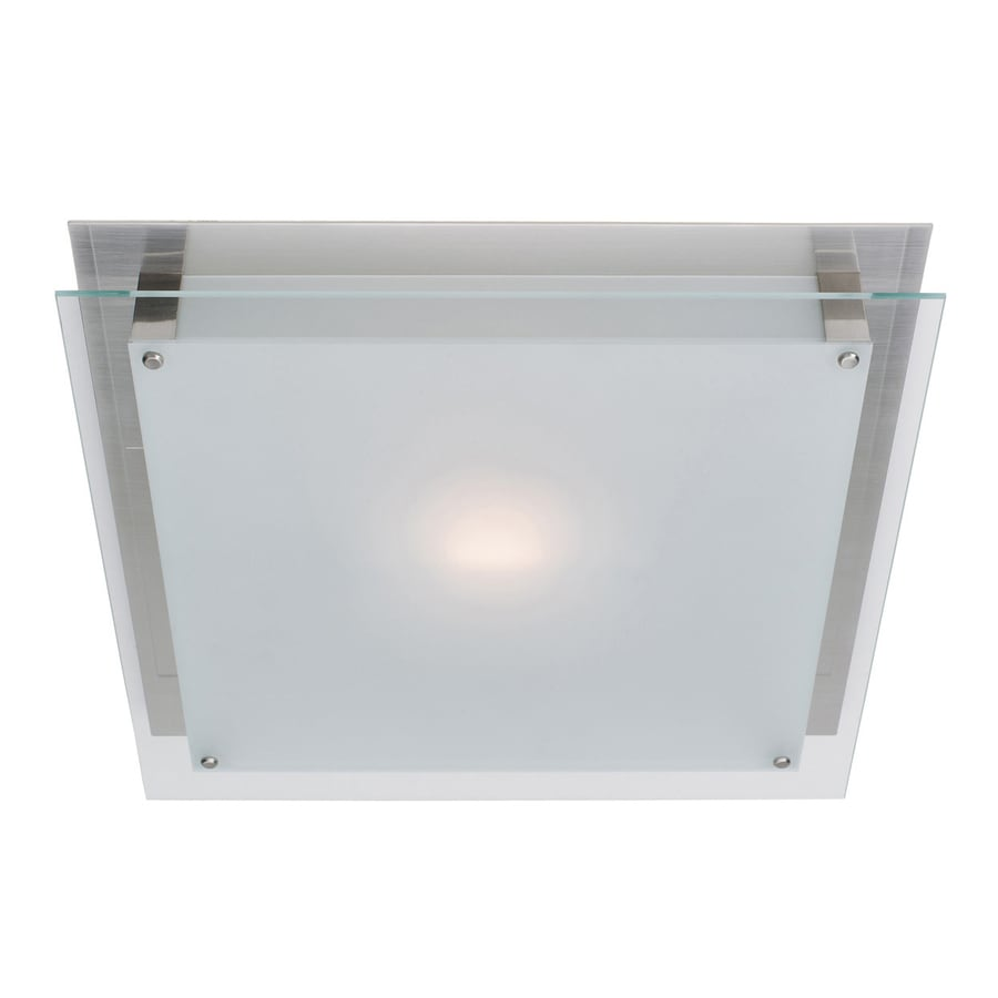 Access Lighting Vision 6.75-in W Brushed Steel Ceiling Flush Mount Light