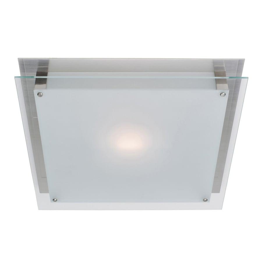 Access Lighting Vision 6.75-in W Brushed steel Flush Mount Light