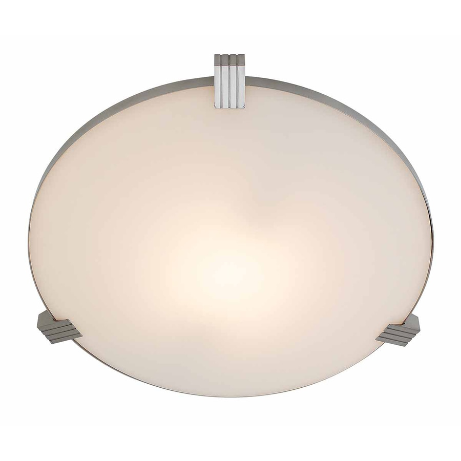 Access Lighting Luna 13.5-in W Brushed Steel Ceiling Flush Mount Light